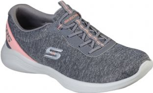 Skechers Womens 104051 GYCL Grey Coral Sport Active Envy Misstep Trainers